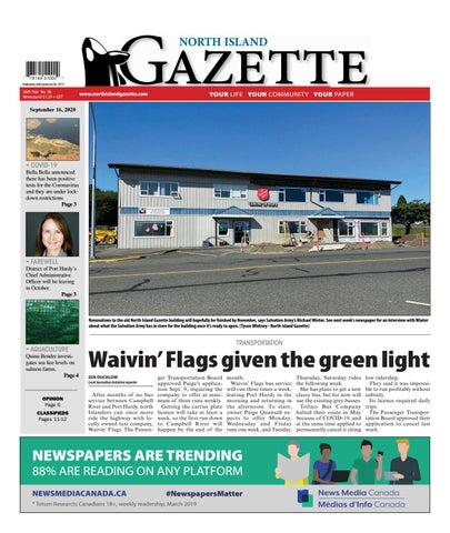 North Island Gazette, September 16, 2020