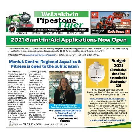 September 17, 2020 Pipestone Flyer