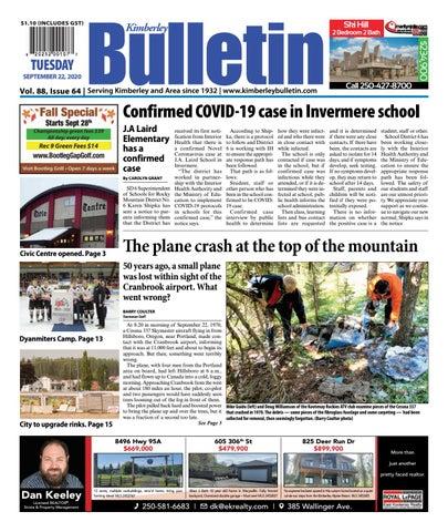Kimberley Daily Bulletin, September 22, 2020