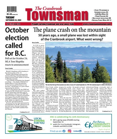 Cranbrook Daily Townsman, September 22, 2020