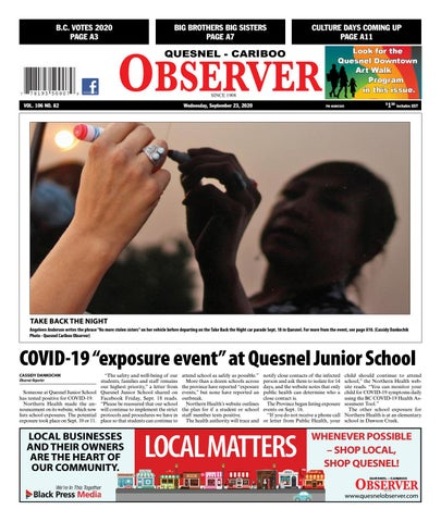 Quesnel Cariboo Observer, September 23, 2020