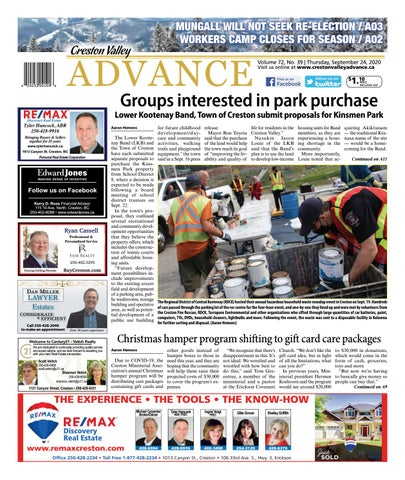Creston Valley Advance, September 24, 2020