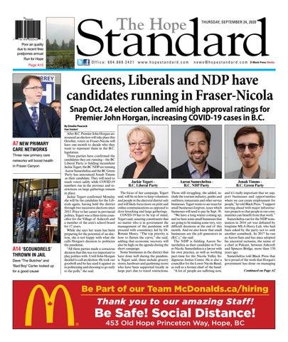 Hope Standard, September 24, 2020