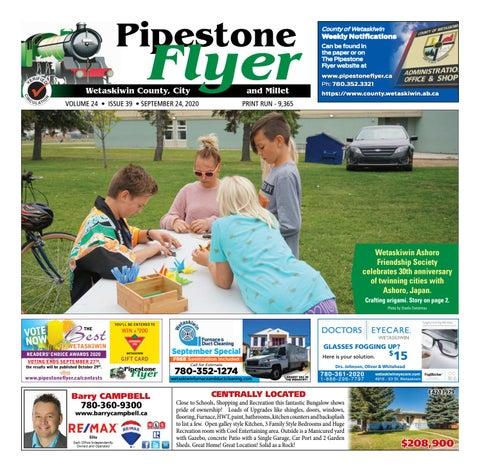 Wetaskiwin/Millet Pipestone Flyer, September 24, 2020