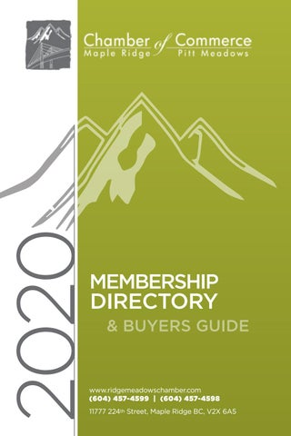 Chamber of Commerce Membership Directory and Buyers Guide 2020