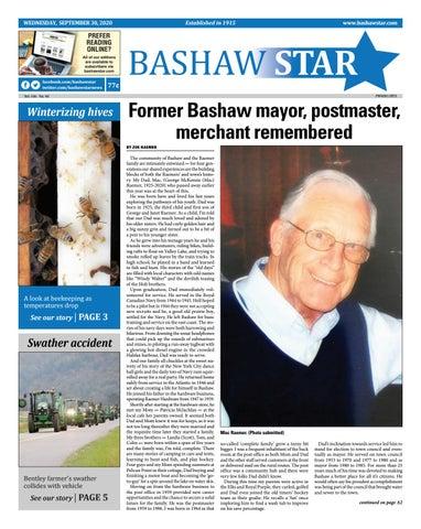 Bashaw Star, September 30, 2020