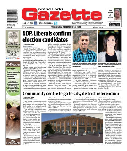 Grand Forks Gazette/West Kootenay Advertiser, September 30, 2020