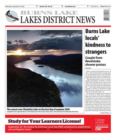 Burns Lake Lakes District News, September 30, 2020