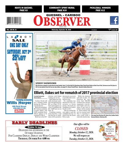 Quesnel Cariboo Observer, September 30, 2020