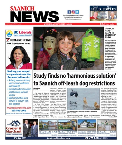 Saanich News, September 30, 2020