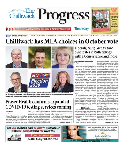 Chilliwack Progress, October 1, 2020
