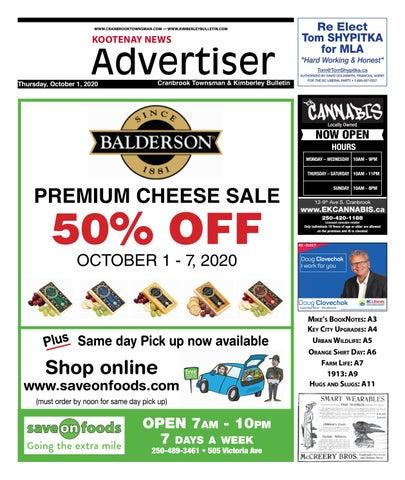Kimberley Daily Bulletin, October 1, 2020