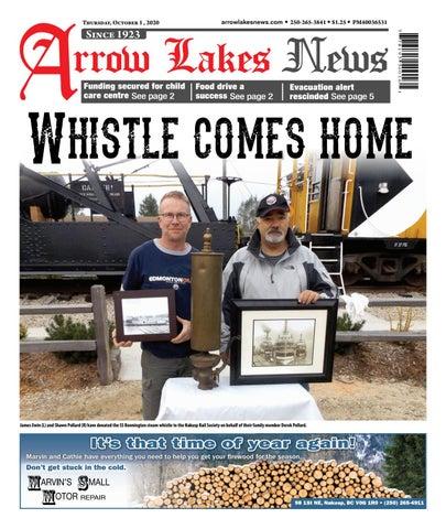 Arrow Lakes News, October 1, 2020