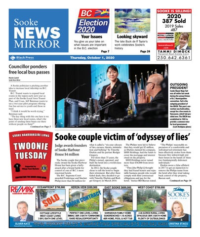 Sooke News Mirror, October 1, 2020