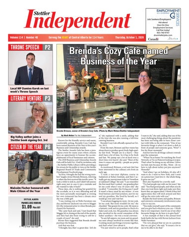 Stettler Independent, October 1, 2020