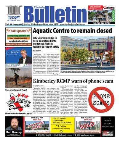 Kimberley Daily Bulletin, October 6, 2020