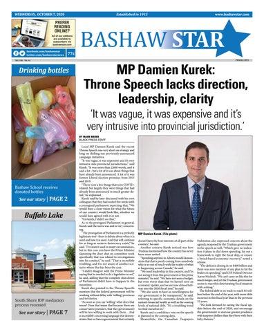Bashaw Star, October 7, 2020