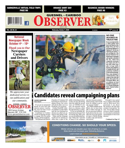 Quesnel Cariboo Observer, October 7, 2020