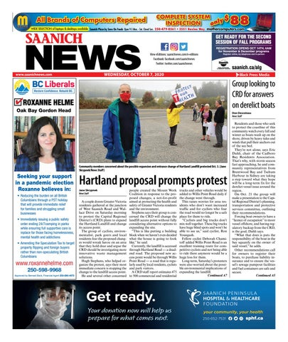 Saanich News, October 7, 2020