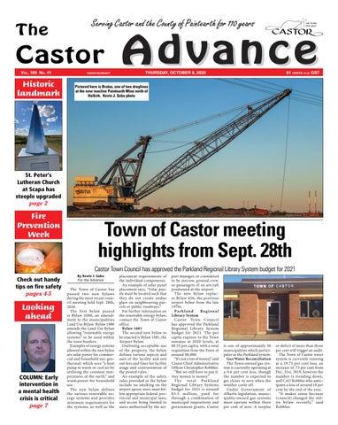 Castor Advance, October 8, 2020