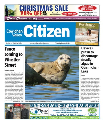 Cowichan Valley Citizen, October 8, 2020
