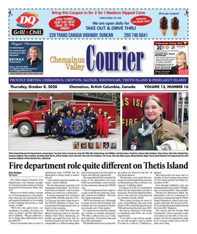 Chemainus Valley Courier, October 8, 2020