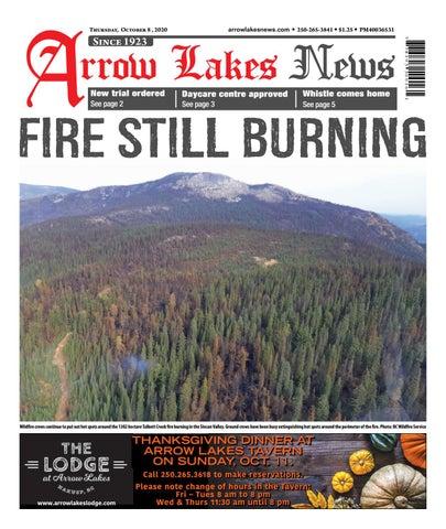 Arrow Lakes News, October 8, 2020