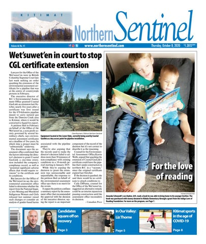 Kitimat Northern Sentinel/Northern Connector, October 8, 2020