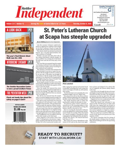Stettler Independent, October 8, 2020