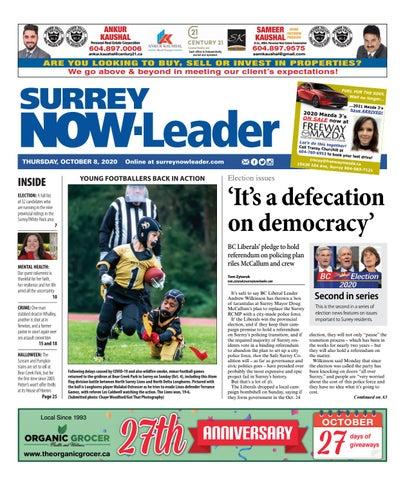 Surrey Now Leader, October 8, 2020