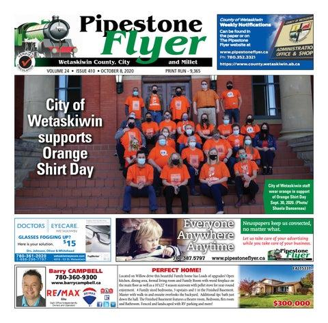 Wetaskiwin/Millet Pipestone Flyer, October 8, 2020
