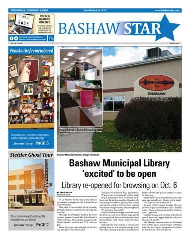Bashaw Star, October 14, 2020