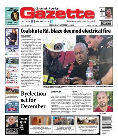 Grand Forks Gazette/West Kootenay Advertiser, October 14, 2020
