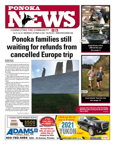 Ponoka News, October 14, 2020