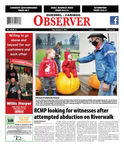 Quesnel Cariboo Observer, October 14, 2020