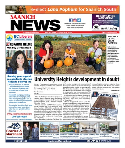 Saanich News, October 14, 2020