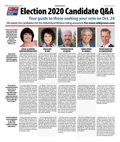 BC Election 2020 Q&A