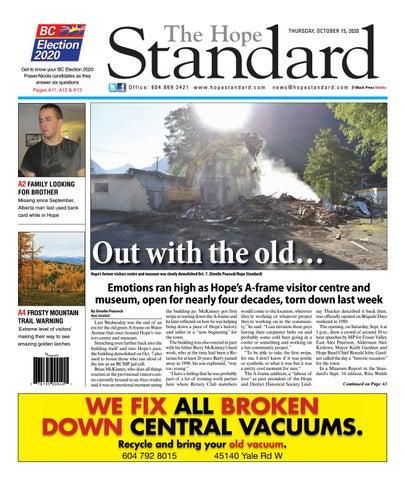 Hope Standard, October 15, 2020
