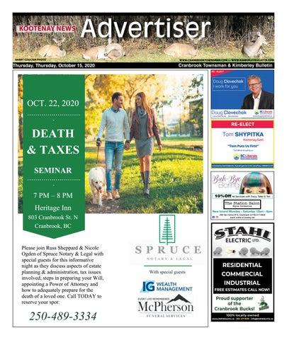 Kimberley Daily Bulletin, October 15, 2020