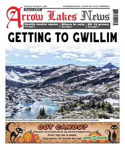 Arrow Lakes News, October 15, 2020
