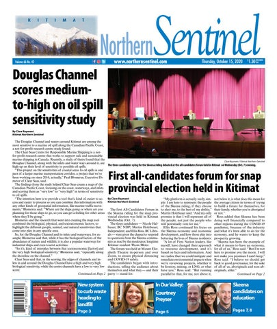 Kitimat Northern Sentinel/Northern Connector, October 15, 2020