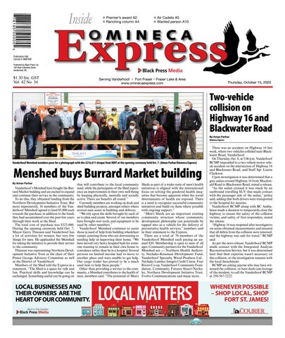 Vanderhoof Omineca Express/Stuart Nechako Advertiser, October 15, 2020