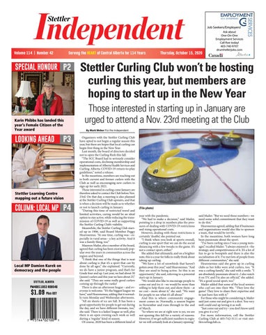 Stettler Independent, October 15, 2020