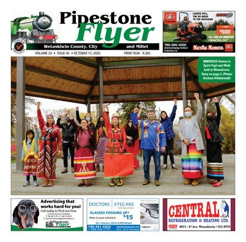 Wetaskiwin/Millet Pipestone Flyer, October 15, 2020