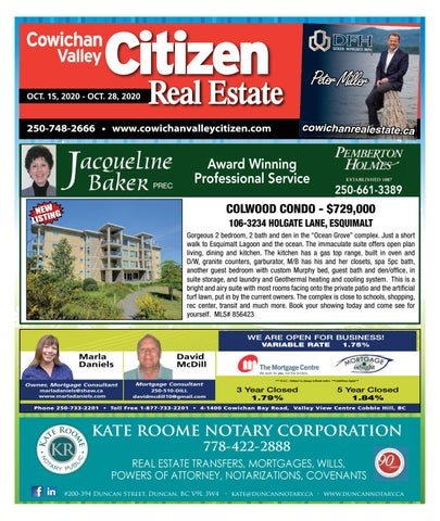 October 15, 2020 Cowichan Valley Citizen