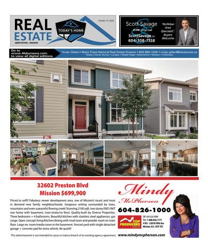 October 16, 2020 Real Estate Weekly - Abbotsford