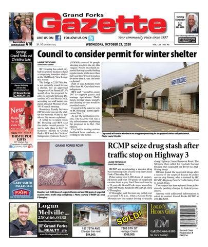 Grand Forks Gazette/West Kootenay Advertiser, October 21, 2020