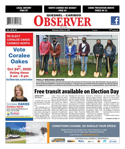 Quesnel Cariboo Observer, October 21, 2020