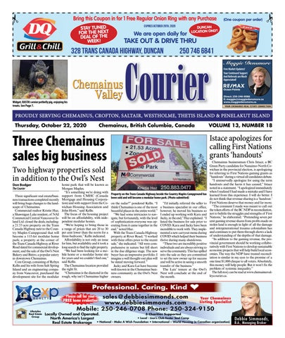 Chemainus Valley Courier, October 22, 2020