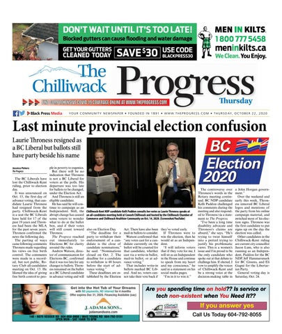 Chilliwack Progress, October 22, 2020